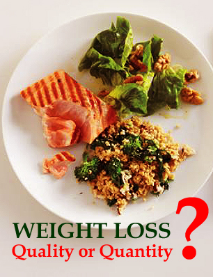 quality or quantity of food for weight loss