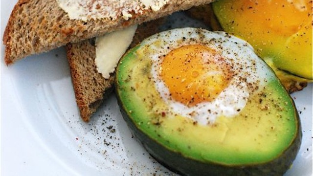 baked avocado and eggs for weight loss