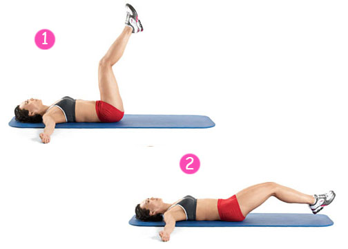 leg lifts for flat belly