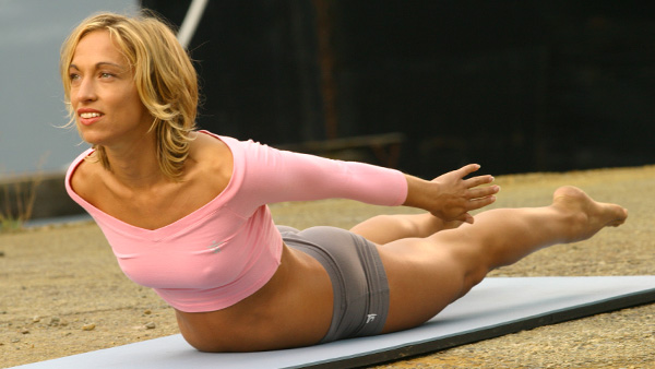 locust pose to shrink stomach quickly