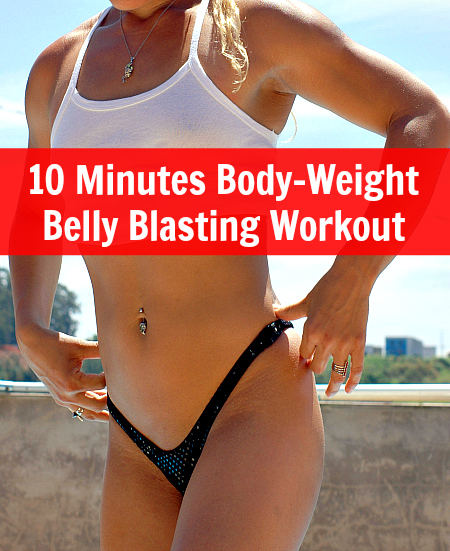 10 Minutes Bodyweight Belly Blasting Workou