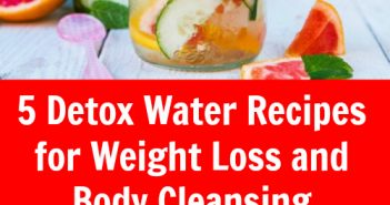 5 detox water recipes for weight loss