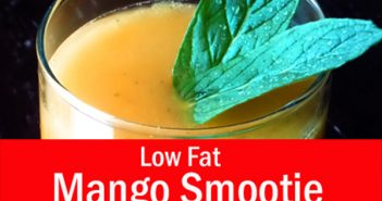 Low Fat Mango Smoothie for Weight Loss